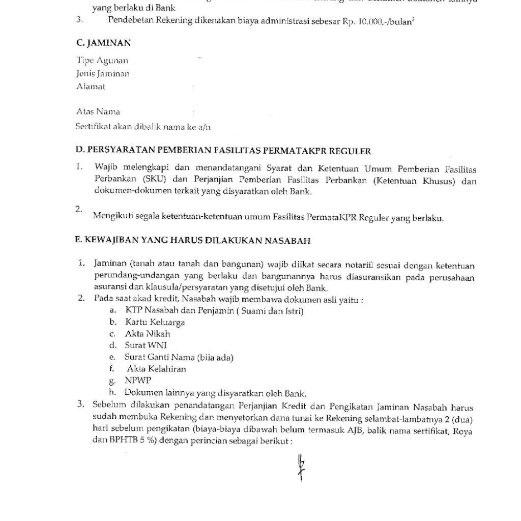 SPK Persetujuan KPR Rumah Baru Syarat Akad Kredit